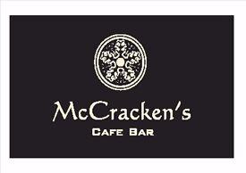 Head Chef McCracken's Cafe Bar