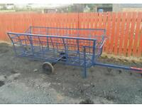 Hay feeder rack for sheep calf's stables etc can be towed with quad etc