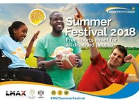DSC Summer Festival 2018 - Free multi-sports event for all disabled people