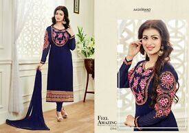 CROSS STITCH VOL 2 NX BY AASHIRWAD STRAIGHT SUITS WHOLESALE