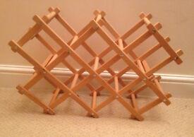 folding wine rack in wood