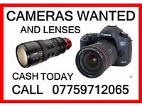 I BUY CANON, NIKON, SONY SLR CAMERAS and LENSES, CASH PAID TODAY