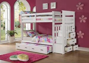 SOLID WOOD BUNK BEDS FROM 299$ GREAT PRICES!!!!!!!!!! LOWEREST IN CANADA