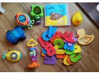 Bundle of Baby Bath Toys Munchkin Nuby Fishrprice