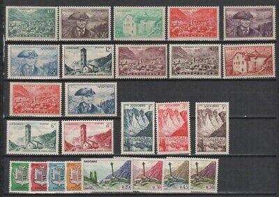 French Andorra 1944 - 1961 MH / MNH Selection Odd Values CV $121.05