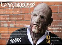 Photo Booth hire (Horror/zombie theme with scare actors) Props, weddings events parties.