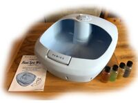 REMINGTON AROMA FOOT SPA WHIRL, as new, c/w instruction booklet & 4 aromatherapy treatments