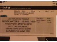Roger Waters ticket glasgow SSE Hydro for Saturday 30th June