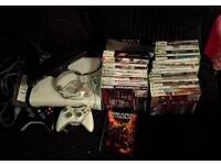 Xbox360, Kinect, wireless adapter and 33 games