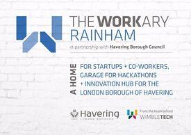 The Workary *Rainham, *Essex - *Haverings brand new coworking hub - hot desks only £65p/m