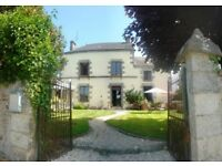 12 bedroom house in North West France for sale with heated outdoor pool and hot-tub