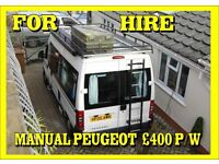 Campervan's for hire in Plymouth Devon,/Cornwall three berths, Manual / Automatic £400/£500p/w +Dep