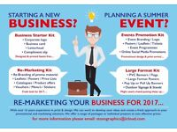 Business Starter Kits, Re-marketing your business for 2017 or Planning a summer event???