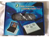 3 Fans Aluminium Notebook/Laptop Cooler Pad USB in Original Box