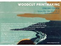 Woodcut Printmaking One Day Course Sunday 14th May