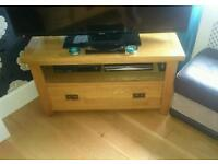 Solid oak tv unit