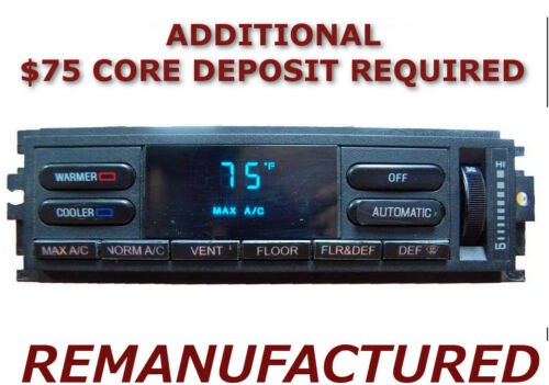 REMAN 1993 1994 Lincoln Town Car AC Heater Climate Control EATC Temperature