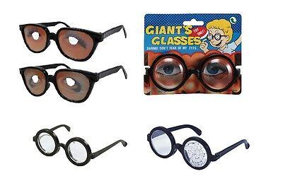 Nerd /RIESEN/Arzt/ Dinosaurier Augen Erwachsene Spielzeug Brillen Kostüm - Nerds Kostüm Kleid