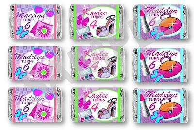 Glamour Girl Spa Makeup - Mini Candy Bar Wrappers - Birthday Favors - Set of (Mini Candy Bar Wrapper)
