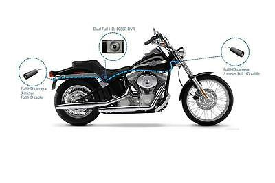 Sykik X1F Motorcycle Biker Action Video Camera System w/ DVR + 2 HD Cameras New