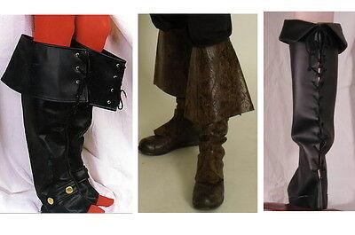 Stiefelstulpen f. Kostüm Mittelalter Larp  Pirat Musketier Barock Rokoko  ()