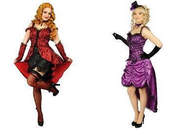 sexy Can Can Kleid Saloongirl Damen Kostüm Wilder Westen Tanzkleid Karneval NEU