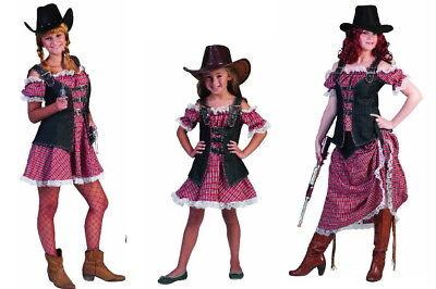 Cowgirl Kostüm Mädchen (Jeans Denim Ranger Rangerin Texasgirl  Cowgirl Damen Mädchen Kostüm Fasching NEU)