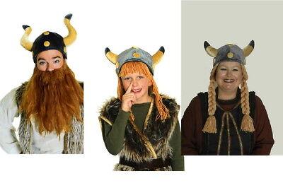 Wikingerhelm Plüsch für Damen Herren Kinder Kostüm Wikinger  Karneval NEU (Herr Helm Kostüm)