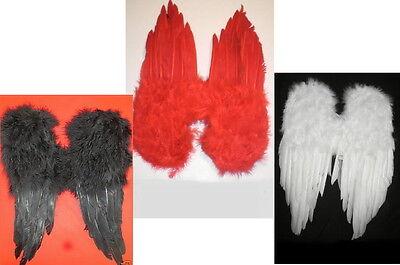 Flügel weiß  o. rot Engel Teufel Weihnachten Halloween Gothik (Rote Teufel Flügel)