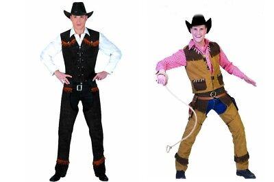 Cowboy Herren Kostüm Weste Chaps und Cowboyhut Western - Cowboy Chaps Kostüm