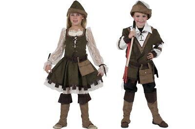 Robin Hood Kinder Jungen Mädchen  Mittelalter Kostüm Karneval Fasching  NEU
