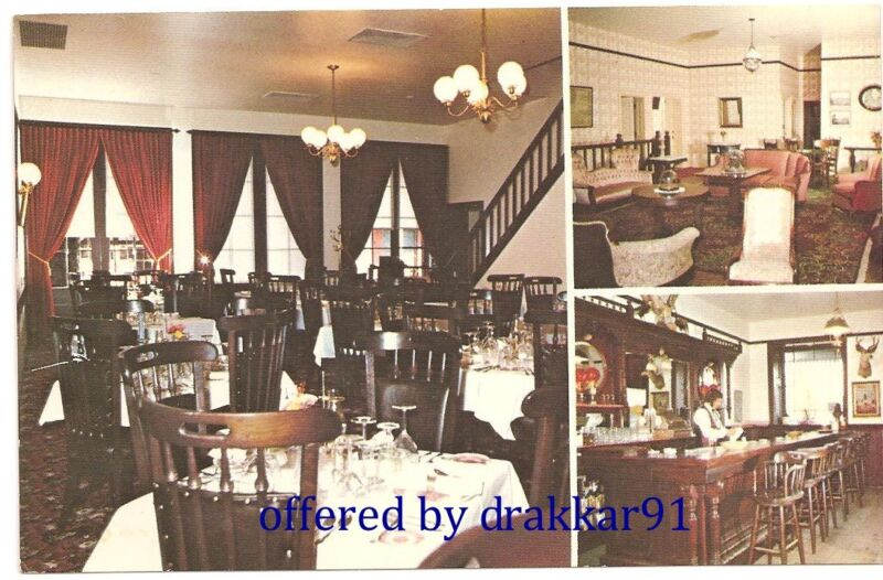 Vintage Chrome Postcard - City Hotel Restaurant Dining Room, Columbia California