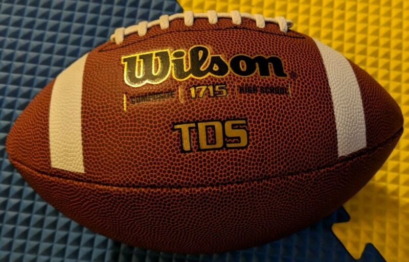 Wilson TDS Official Composite 1715 Leather Football High School NFHS NEW