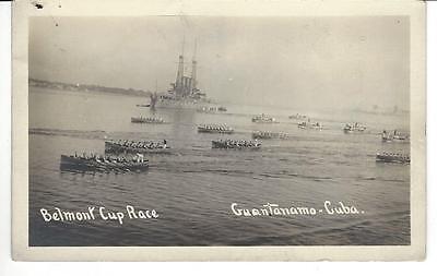 RPPC  - Guantanamo, Cuba - Belmont Cup Race - Atlantic Fleet - 1915 era - Belmont Cup