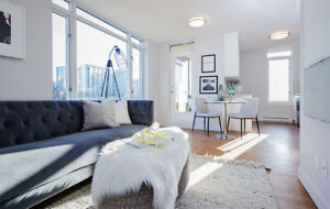 Rare 2 bedroom townhomes at Burrard & Nelson -Call today!