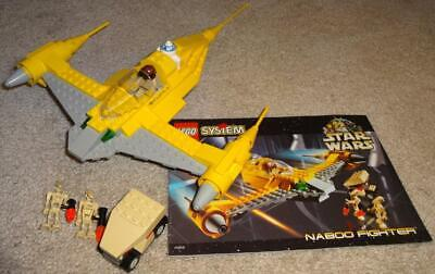 LEGO STAR WARS NABOO FIGHTER 7141 100% COMPLETE w/ INSTRUCTIONS