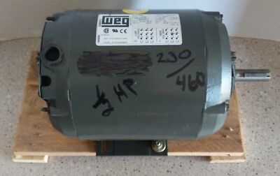 New Weg Electric Motor .5018ot3erb56 12hp 1730 Rpm 3ph 208v230v460v
