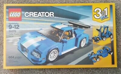 NEW IN BOX LEGO CREATOR 3-IN-1 31070 TURBO TRACK RACER 664 PIECES