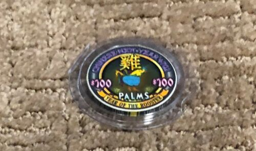 $ 100 Palms Year of the Rooster Casino Chip Las Vegas -Very Rare!
