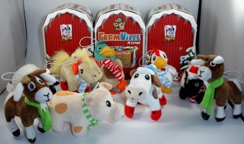 Lot of (17) Farmville Collectible Plush Stuffed Farm Animal Ornaments Zynga New