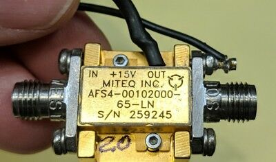 Miteq Afs4-00102000-65 Lna 20 Ghz Amplifier Tested Guaranteed A20