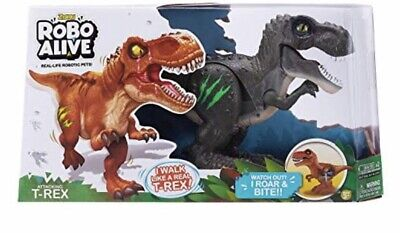 Dinosaur Robo Alive - Attacking T-Rex Battery-Powered Toy (Green)