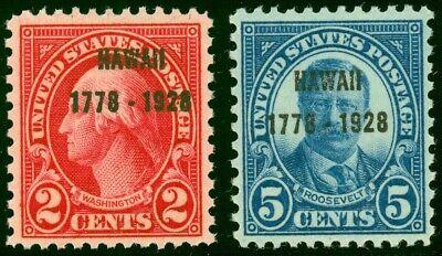 647 & 648 HAWAII - Fault Free Mint Never Hinged Singles