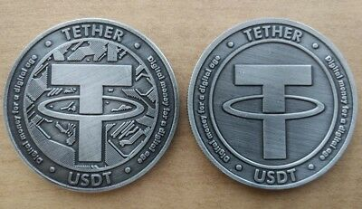 Commemorative   Collectible Usdt Tether Virtual Crypto Currency Physical Coin