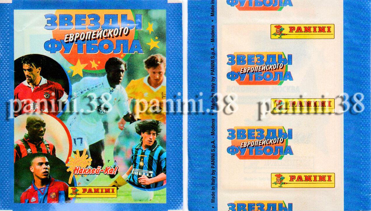 "Rare !! pochette russian ed. ""equipos de europa"" packet, tüte, bustina panini"