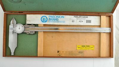 Vintage Fowler Helios 13in. Dail Caliper With Wood Box 52-025-012 Germany Vgc