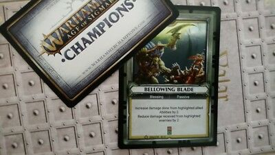 Warhammer Age Of Sigmar Champions TCG UNCLAIMED : Bellowing Blade