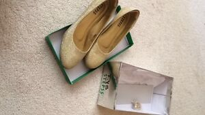 Gold Wedged Heels from Stepss