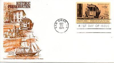 US FDC #1442 Cable Car, Cover Craft (1779) ()