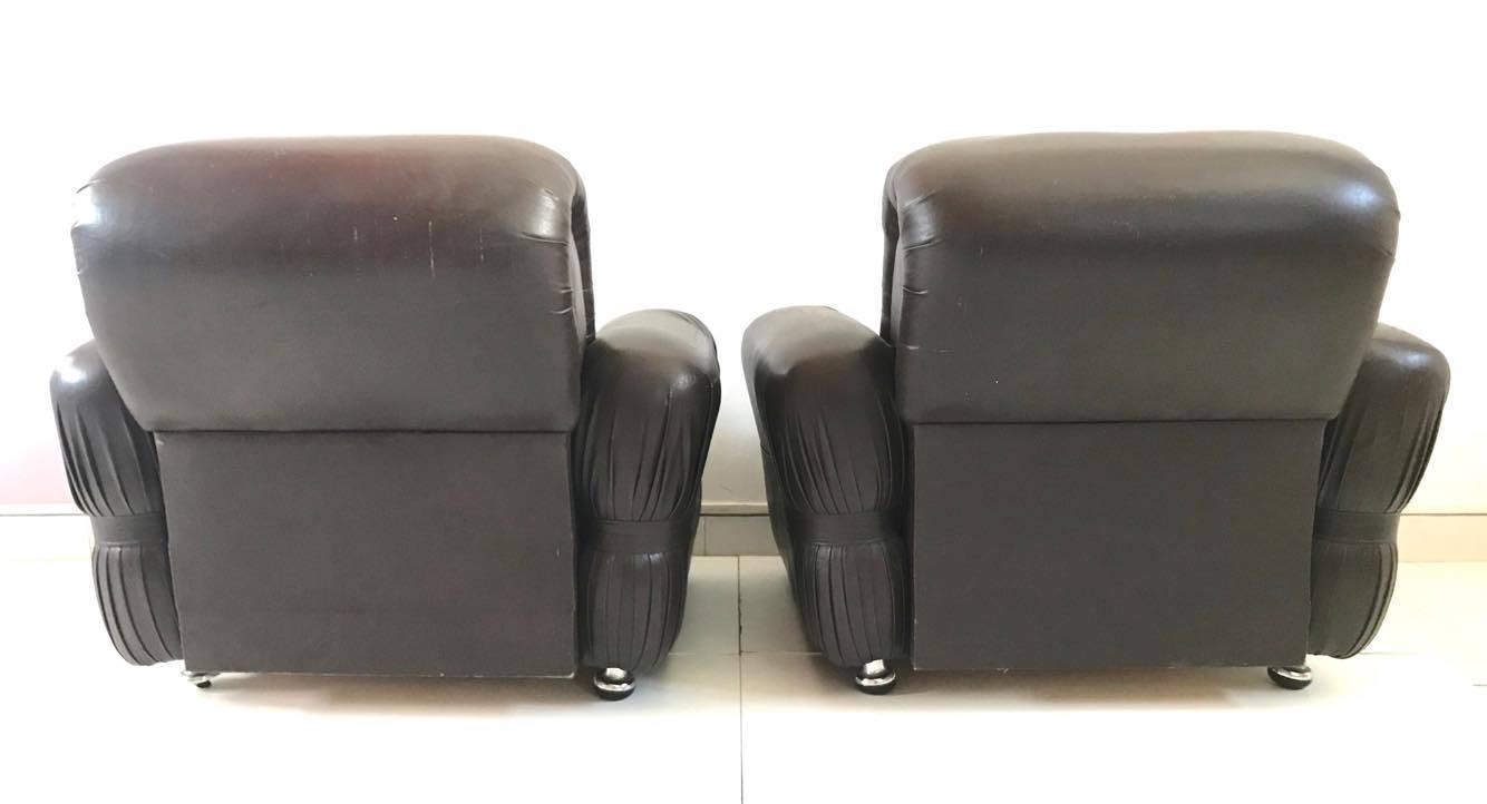 Poltrona poltrone armchair sedie pelle design anni 39 70 for Poltrona design ebay